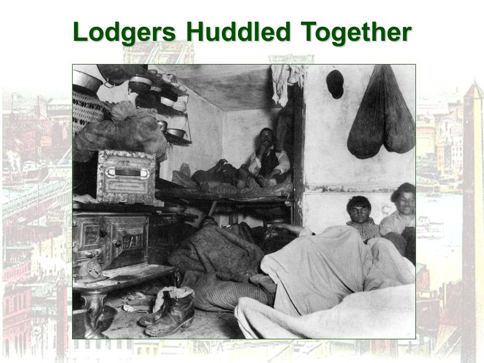 Lodgers Huddled Together