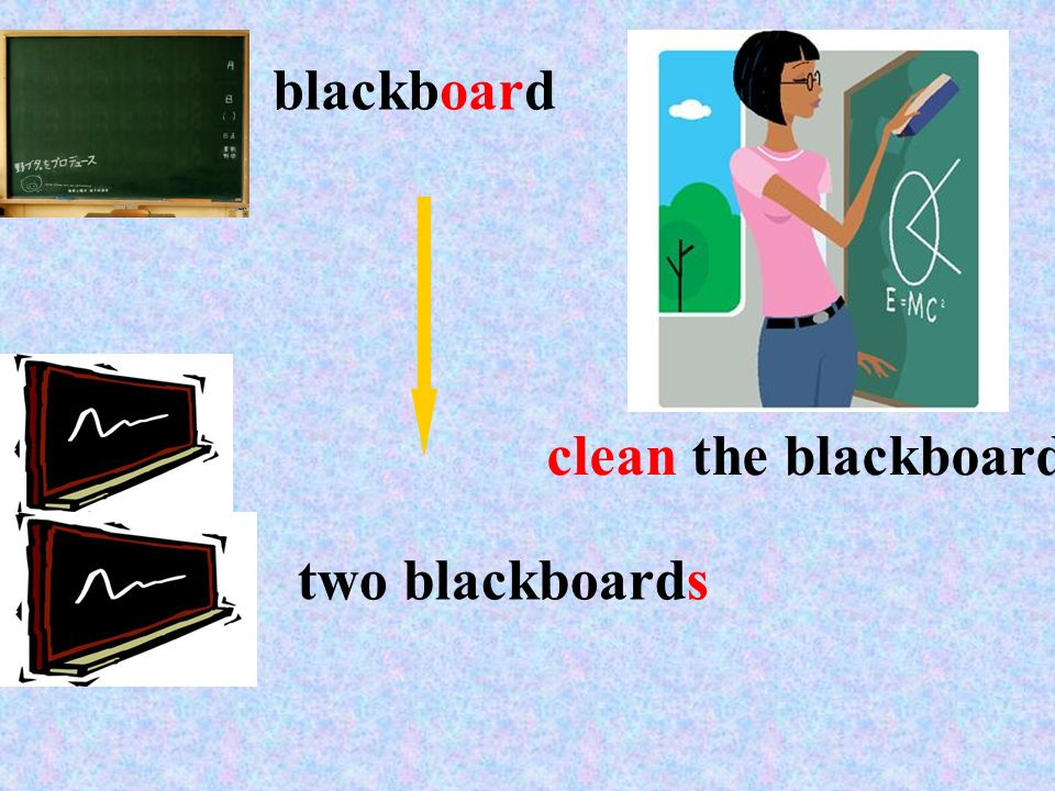 blackboard clean the blackboard two blackboards