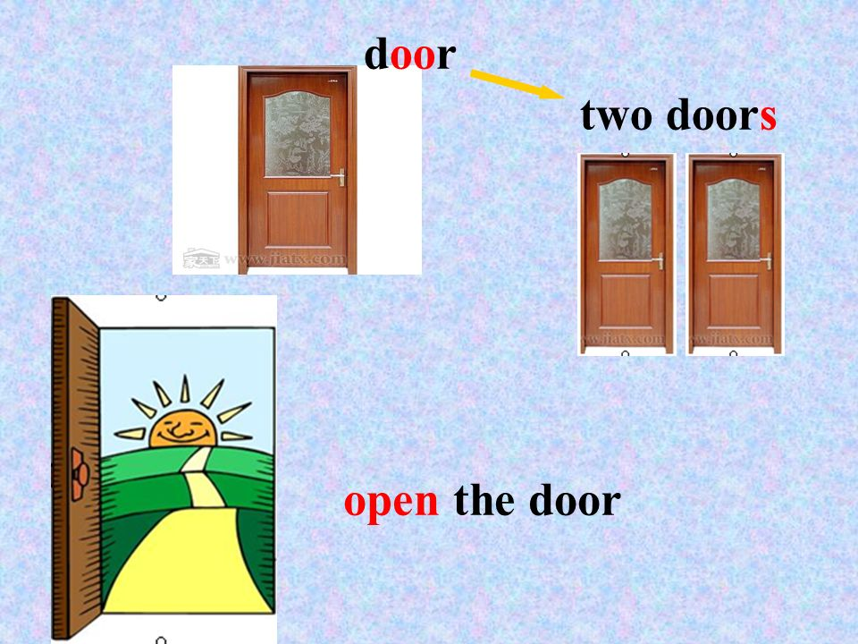 door two doors open the door