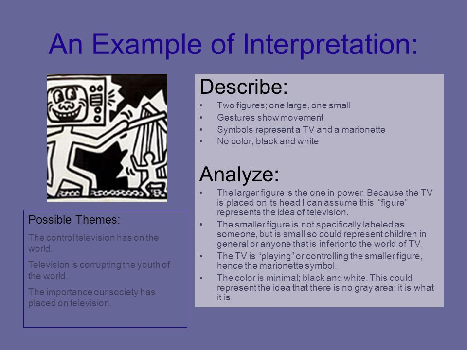 An Example of Interpretation: