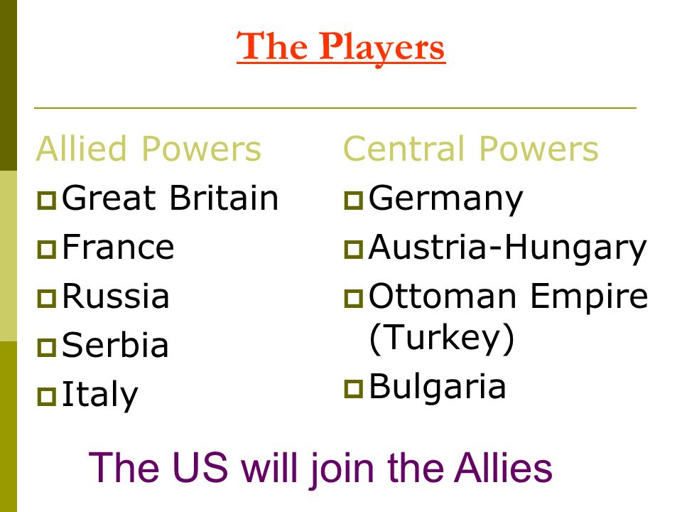 The US will join the Allies