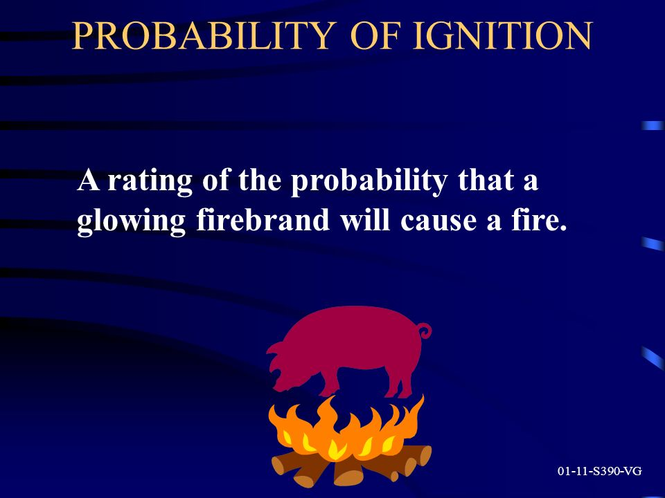 PROBABILITY OF IGNITION
