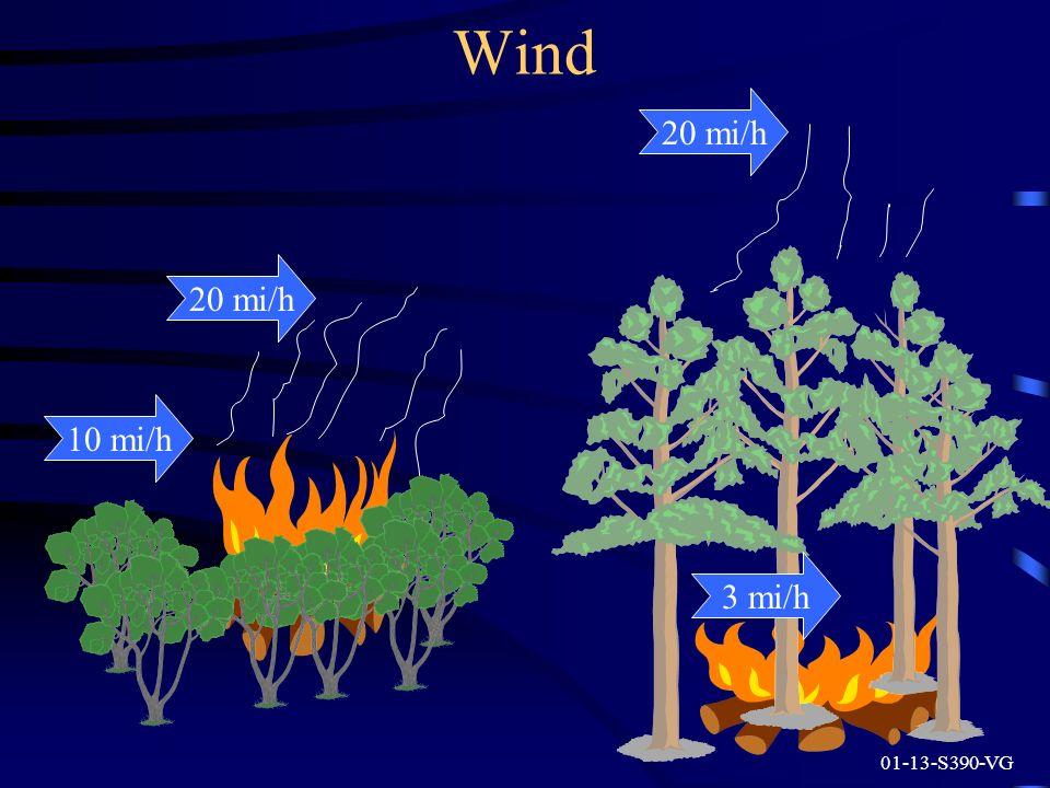 Wind 20 mi/h 20 mi/h 10 mi/h 3 mi/h 01-13-S390-VG