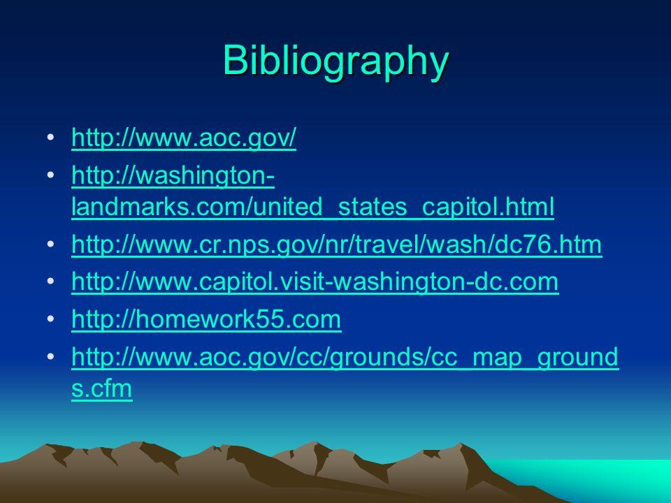 Bibliography http://www.aoc.gov/