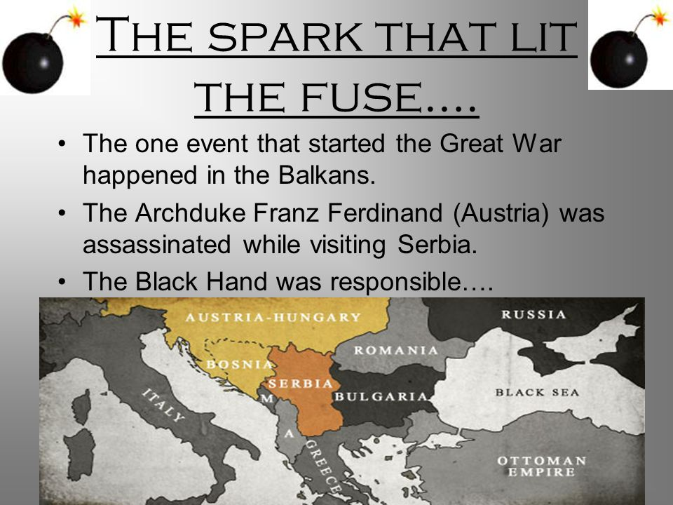 The spark that lit the fuse….