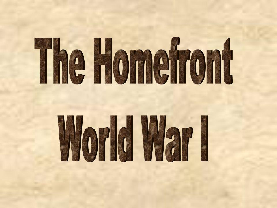 The Homefront World War I
