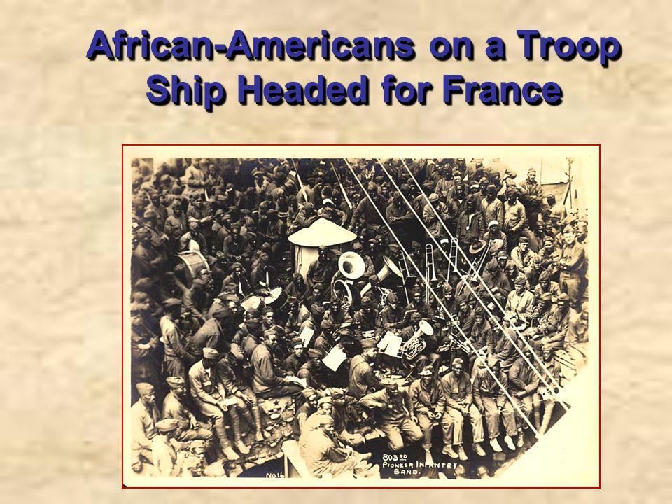 African-Americans on a Troop Ship Headed for France