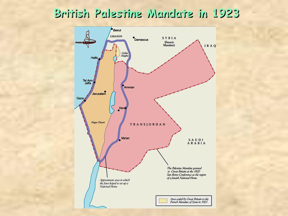 British Palestine Mandate in 1923