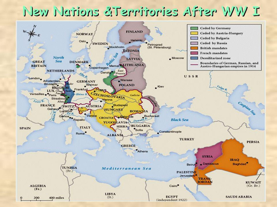 New Nations &Territories After WW I
