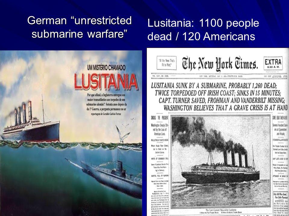 German unrestricted submarine warfare