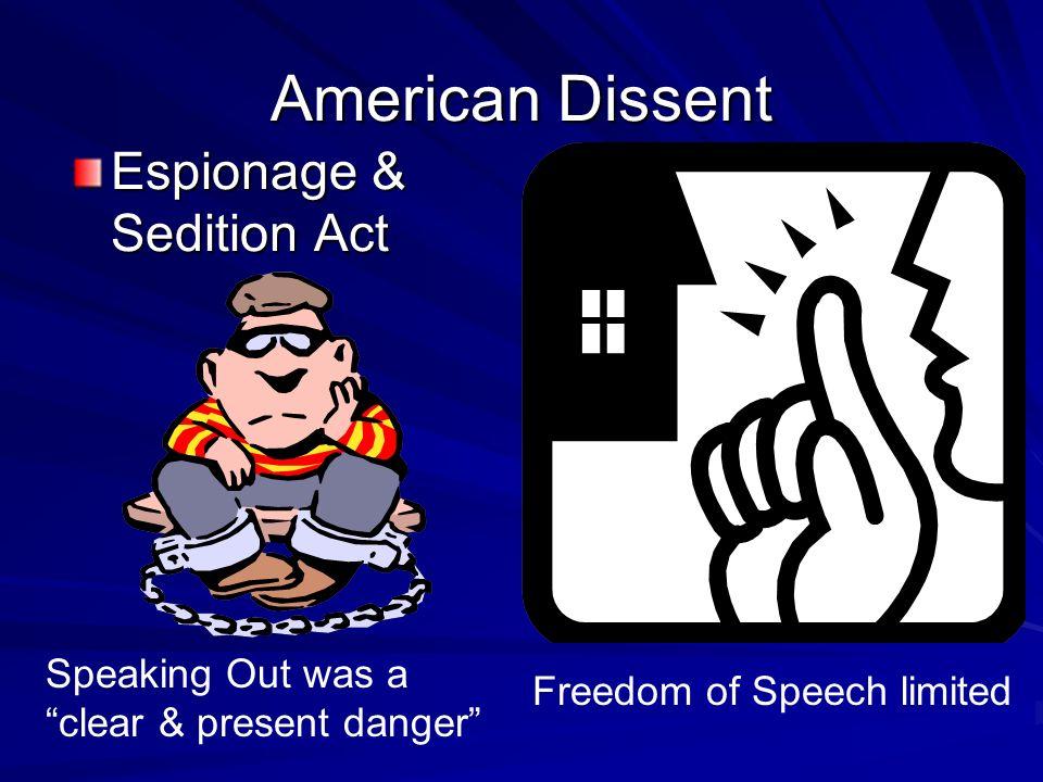 American Dissent Espionage & Sedition Act
