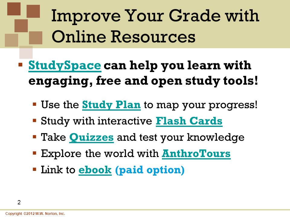 Improve Your Grade with Online Resources