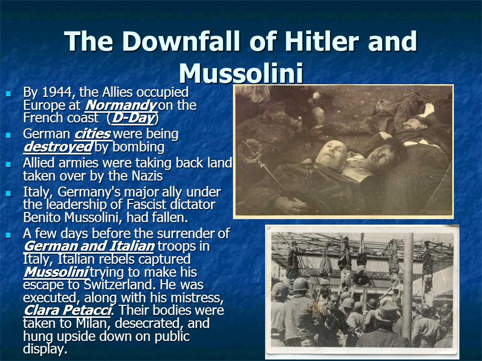 The Downfall of Hitler and Mussolini
