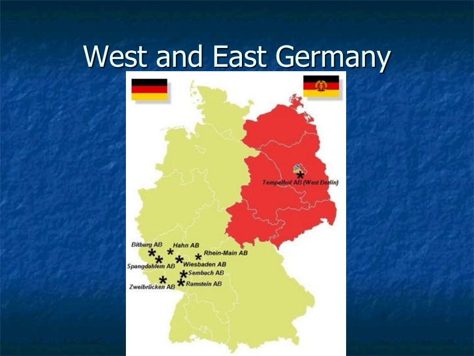 West and East Germany