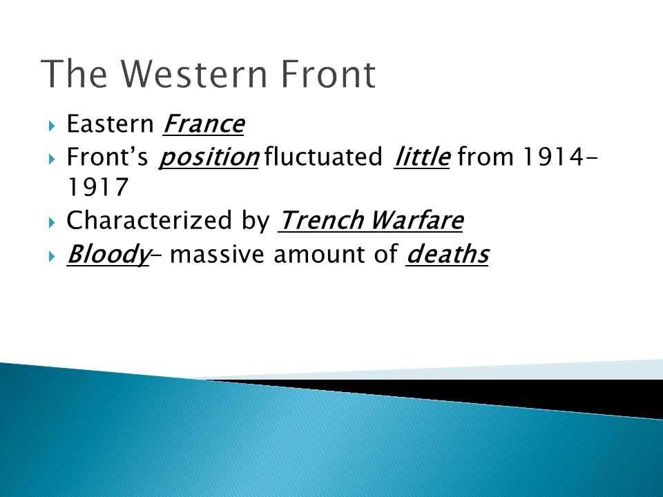 The Western Front Eastern France