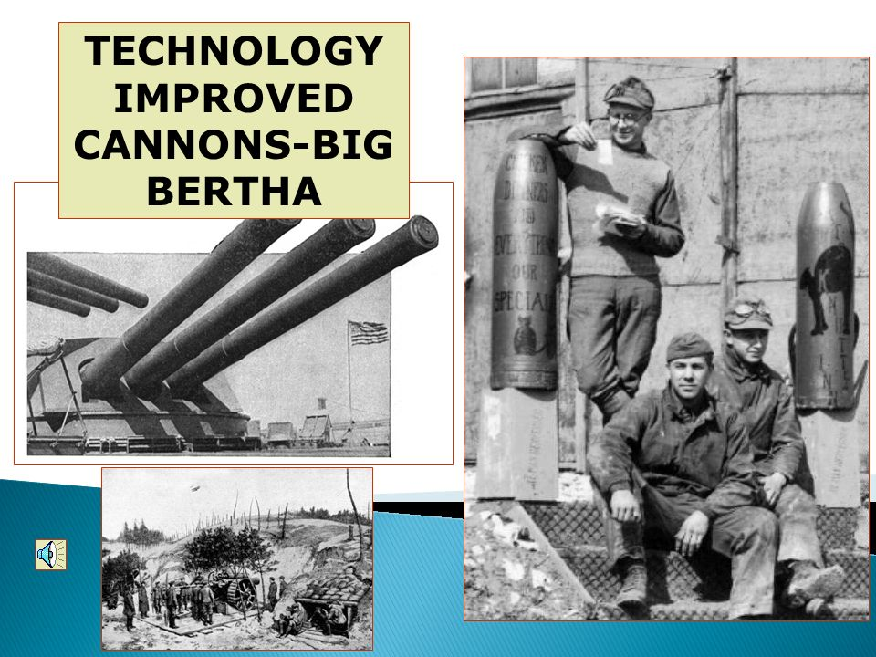 TECHNOLOGY IMPROVED CANNONS-BIG BERTHA