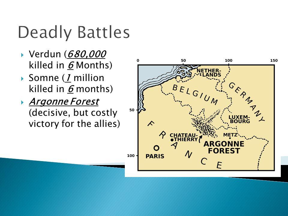 Deadly Battles Verdun (680,000 killed in 6 Months)
