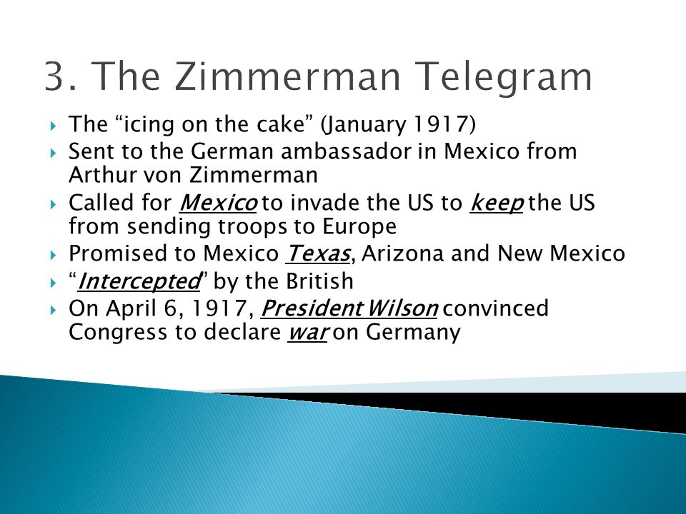 3. The Zimmerman Telegram