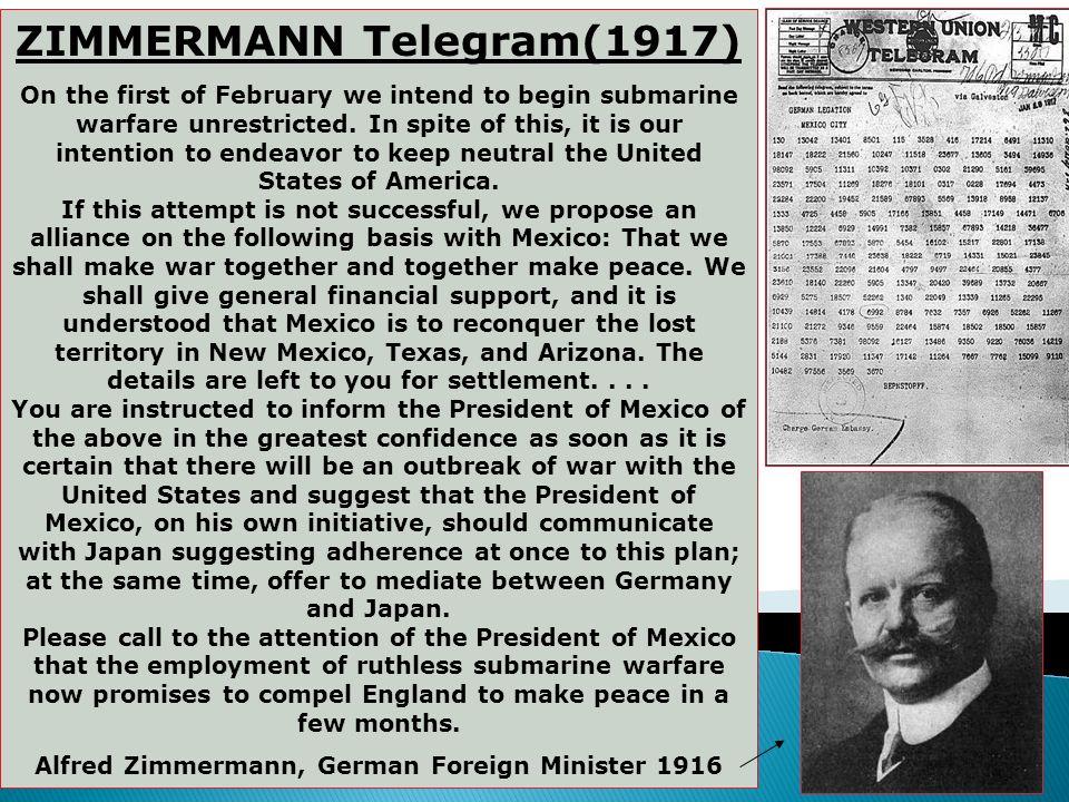 ZIMMERMANN Telegram(1917)