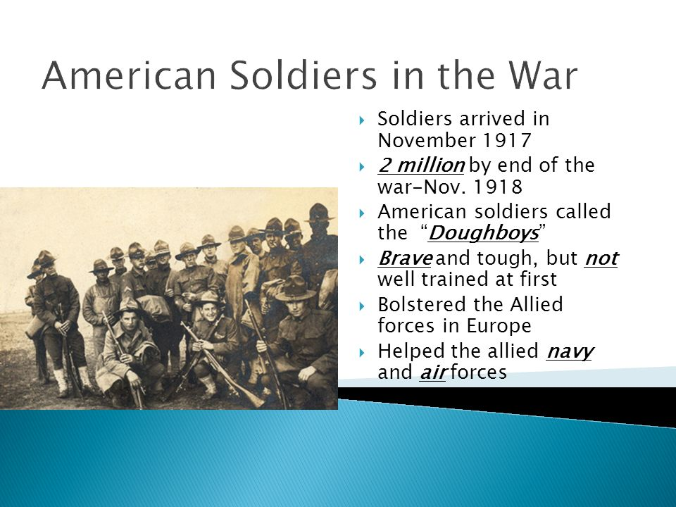 American Soldiers in the War