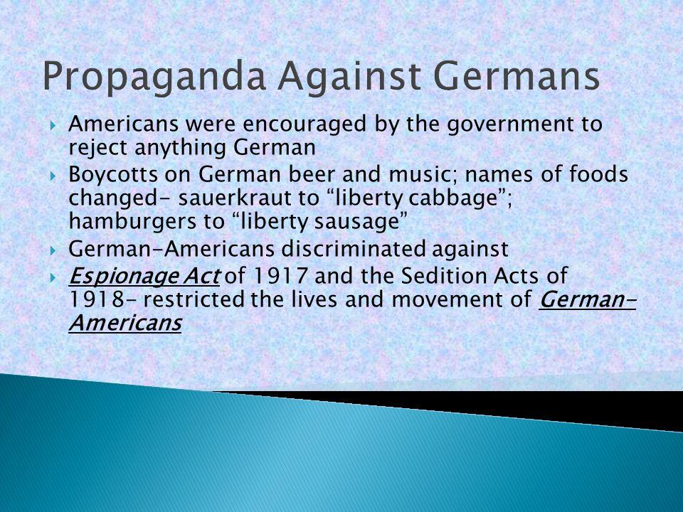 Propaganda Against Germans