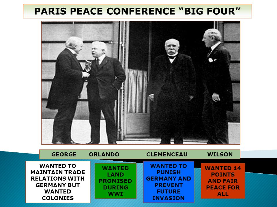 PARIS PEACE CONFERENCE BIG FOUR