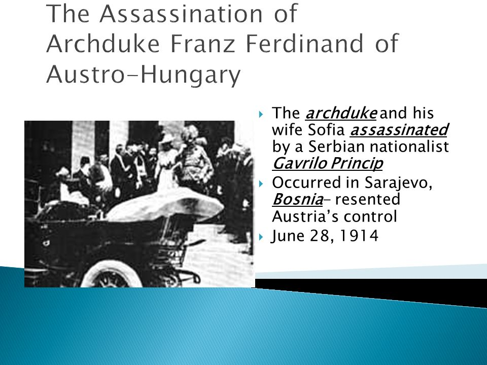 The Assassination of Archduke Franz Ferdinand of Austro-Hungary