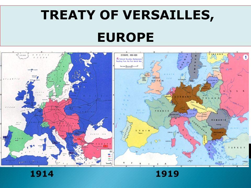 TREATY OF VERSAILLES, EUROPE