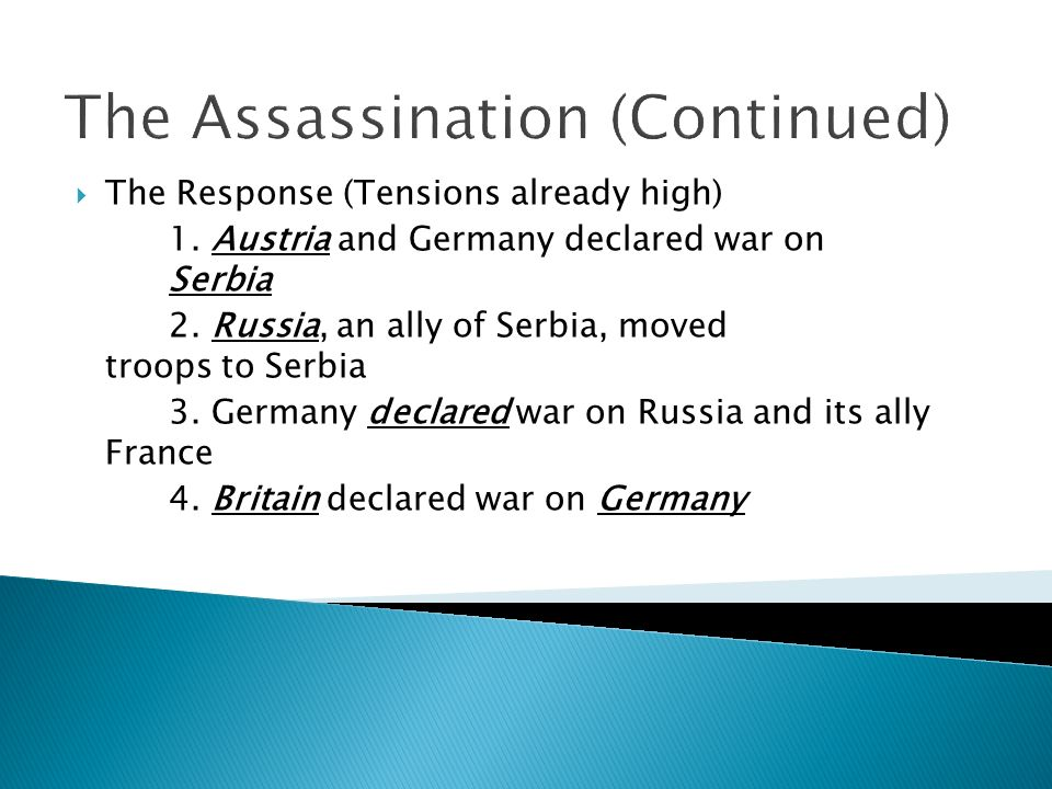 The Assassination (Continued)