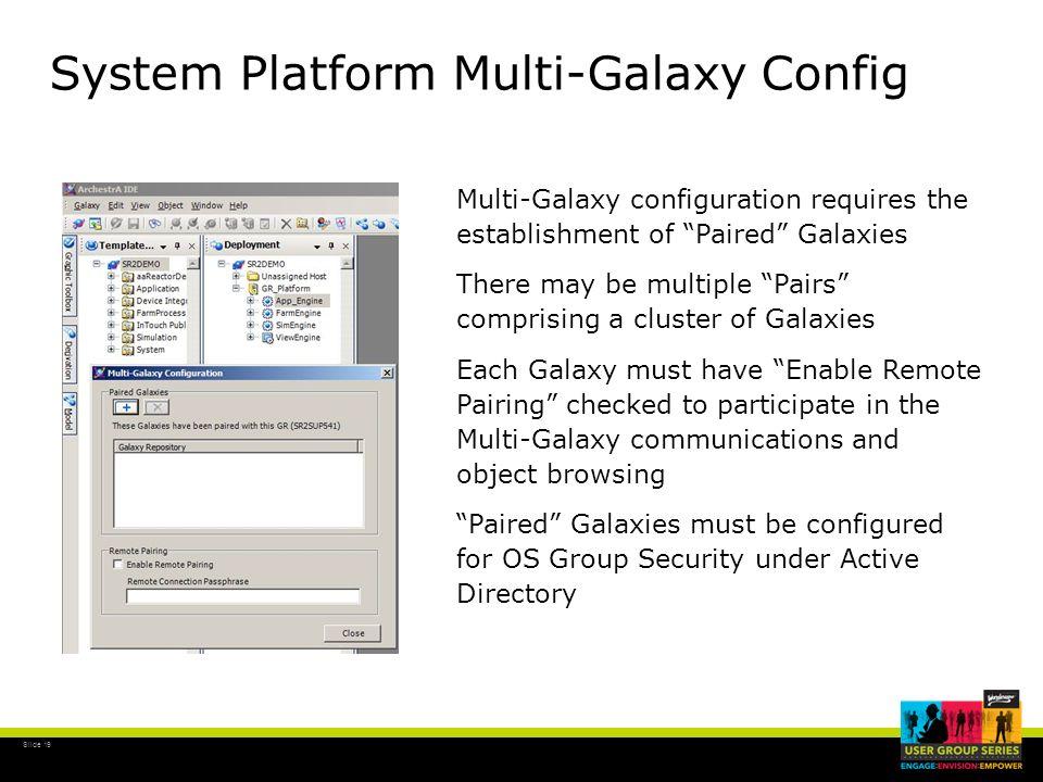 System Platform Multi-Galaxy Config