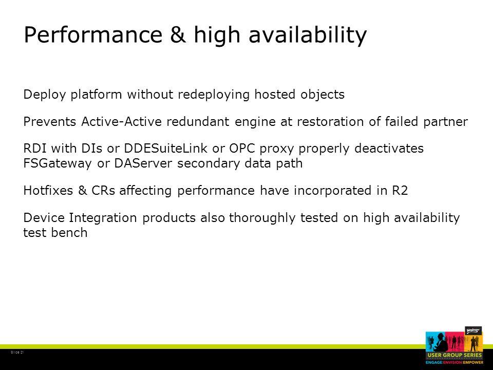 Performance & high availability