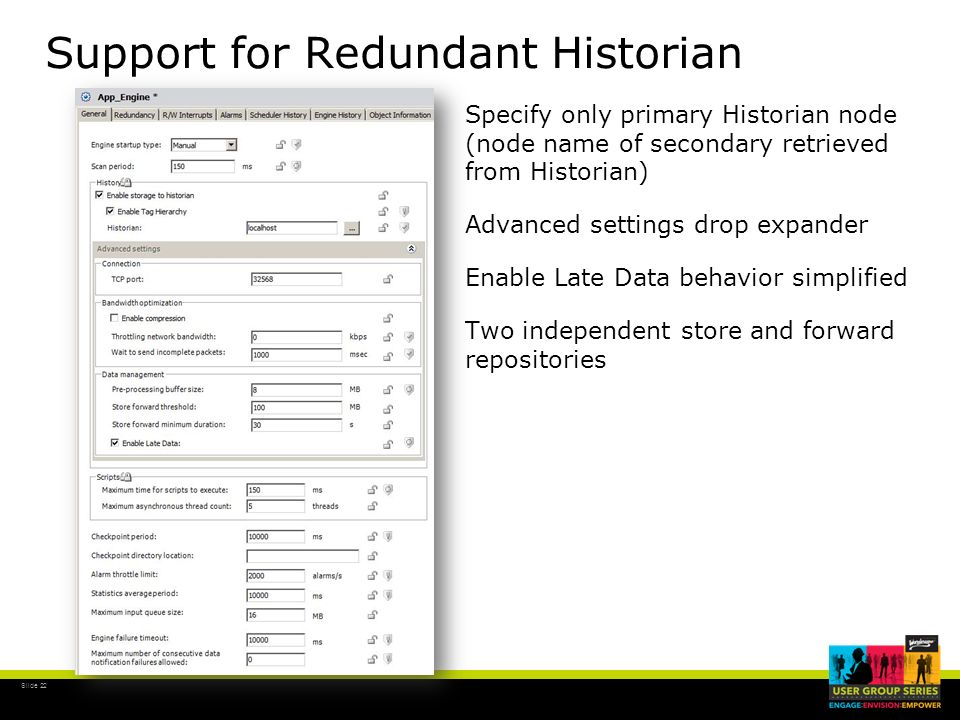 Support for Redundant Historian