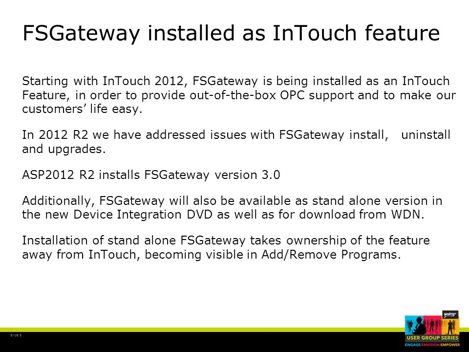 FSGateway installed as InTouch feature