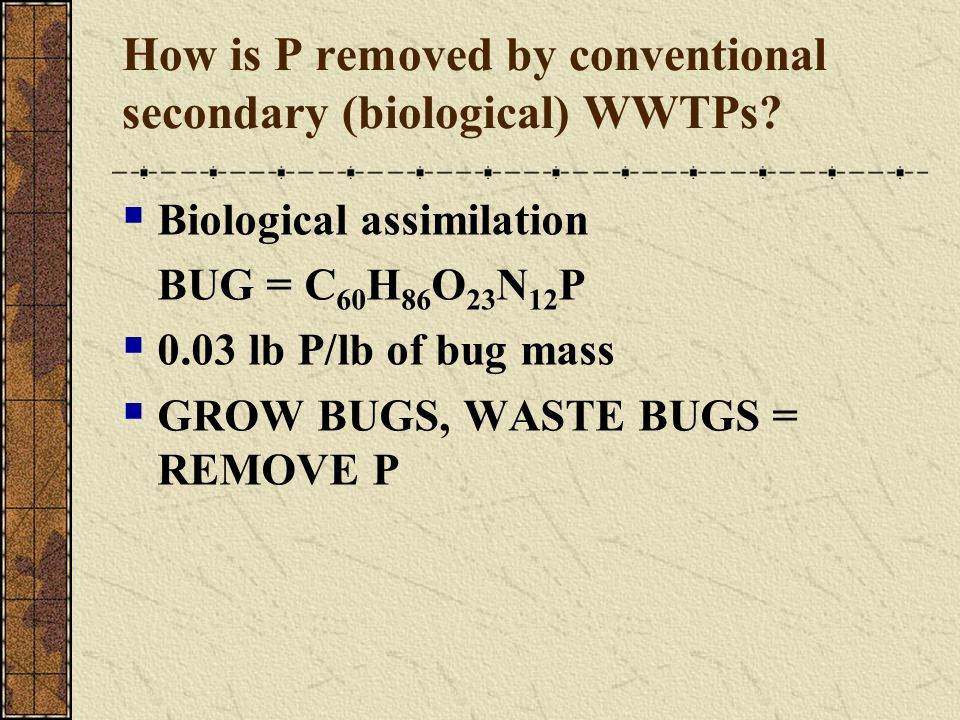 How is P removed by conventional secondary (biological) WWTPs