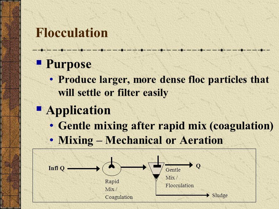 Flocculation Purpose Application