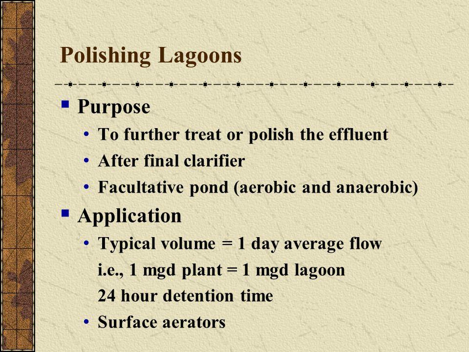 Polishing Lagoons Purpose Application