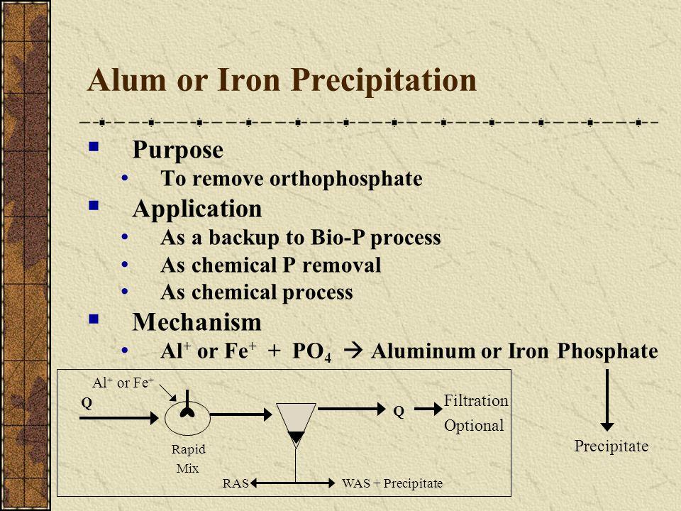 Alum or Iron Precipitation