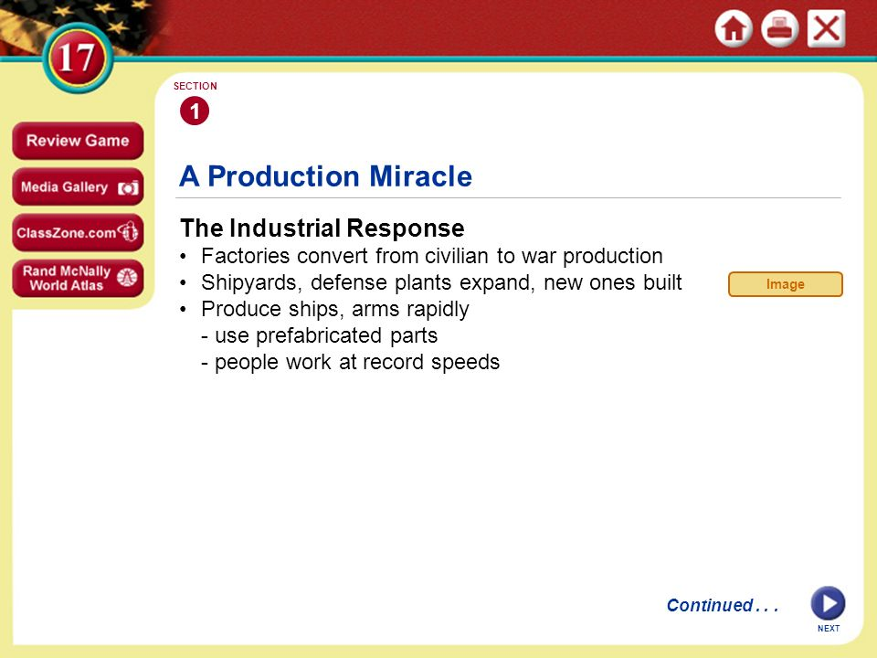 A Production Miracle The Industrial Response 1