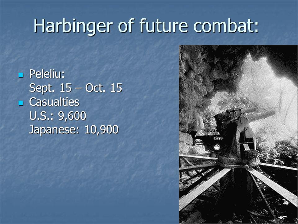 Harbinger of future combat: