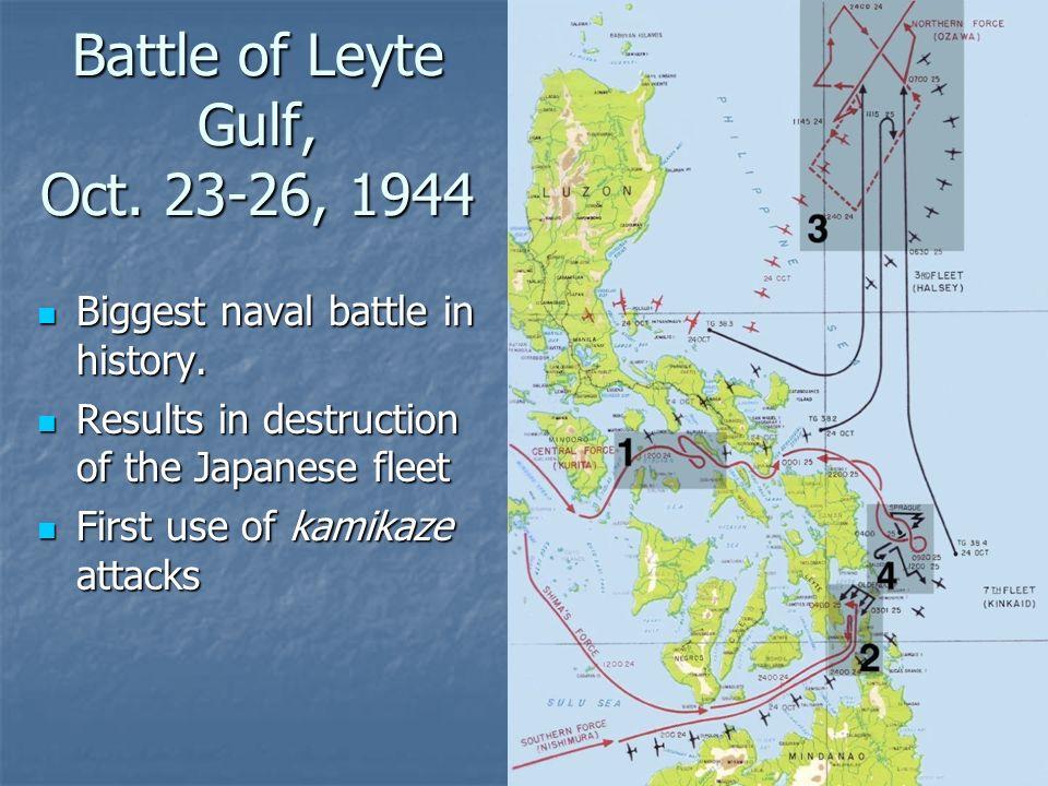 Battle of Leyte Gulf, Oct. 23-26, 1944