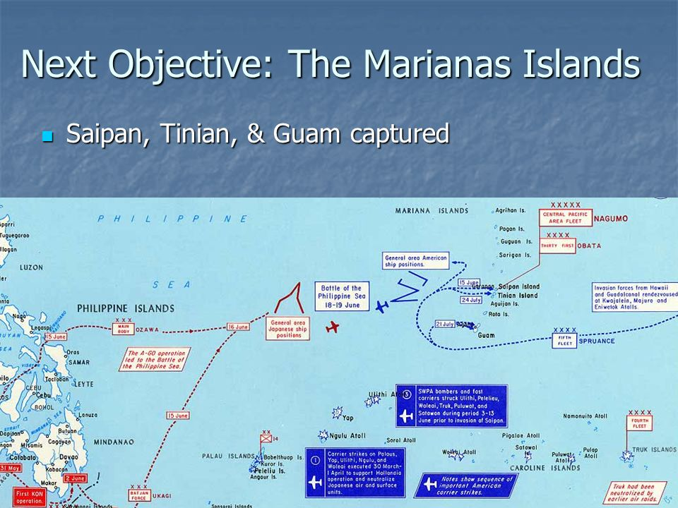 Next Objective: The Marianas Islands
