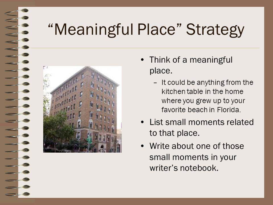 Meaningful Place Strategy