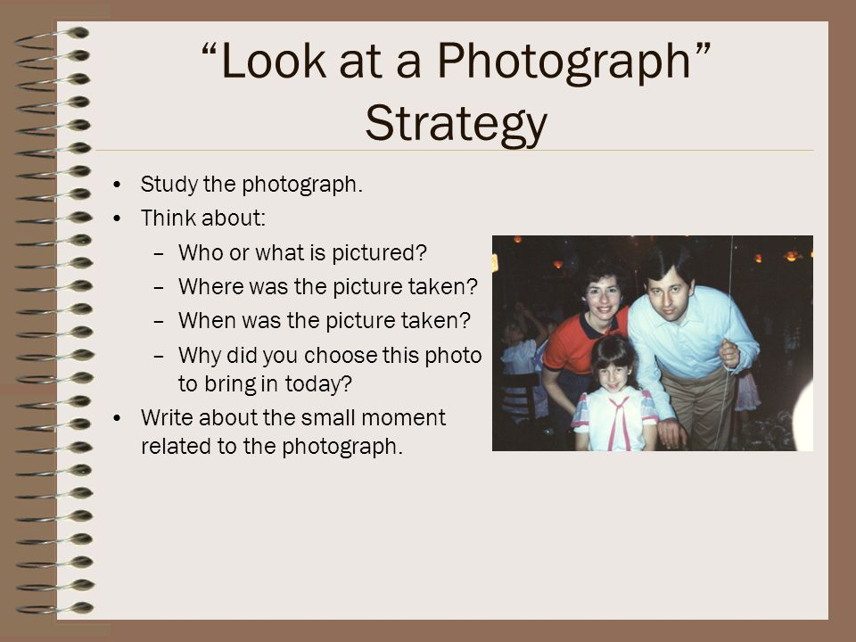 Look at a Photograph Strategy