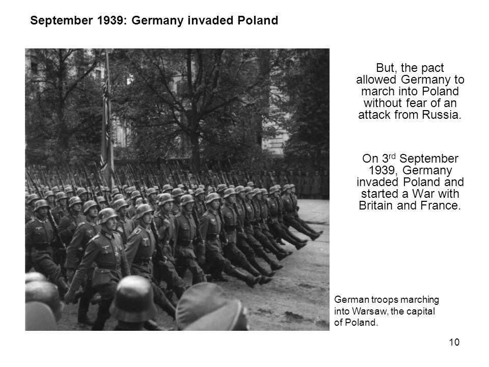 September 1939: Germany invaded Poland
