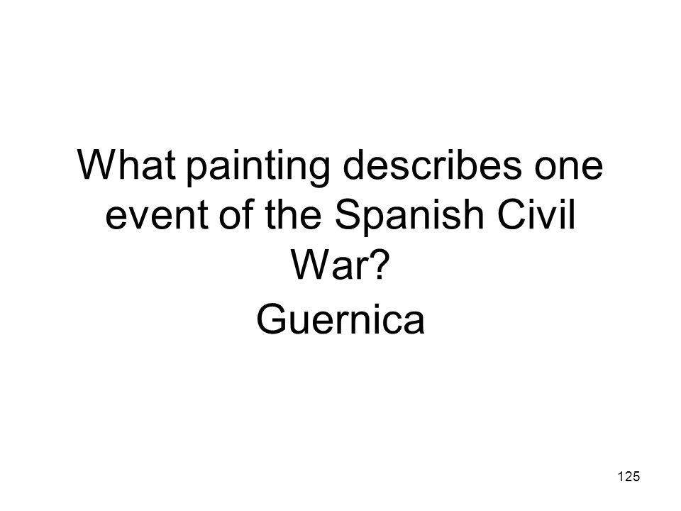 What painting describes one event of the Spanish Civil War