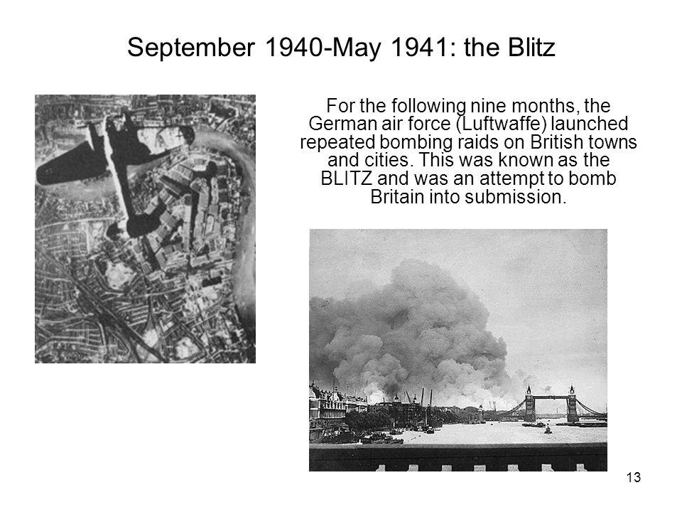 September 1940-May 1941: the Blitz
