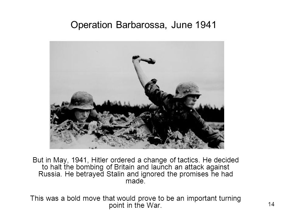 Operation Barbarossa, June 1941