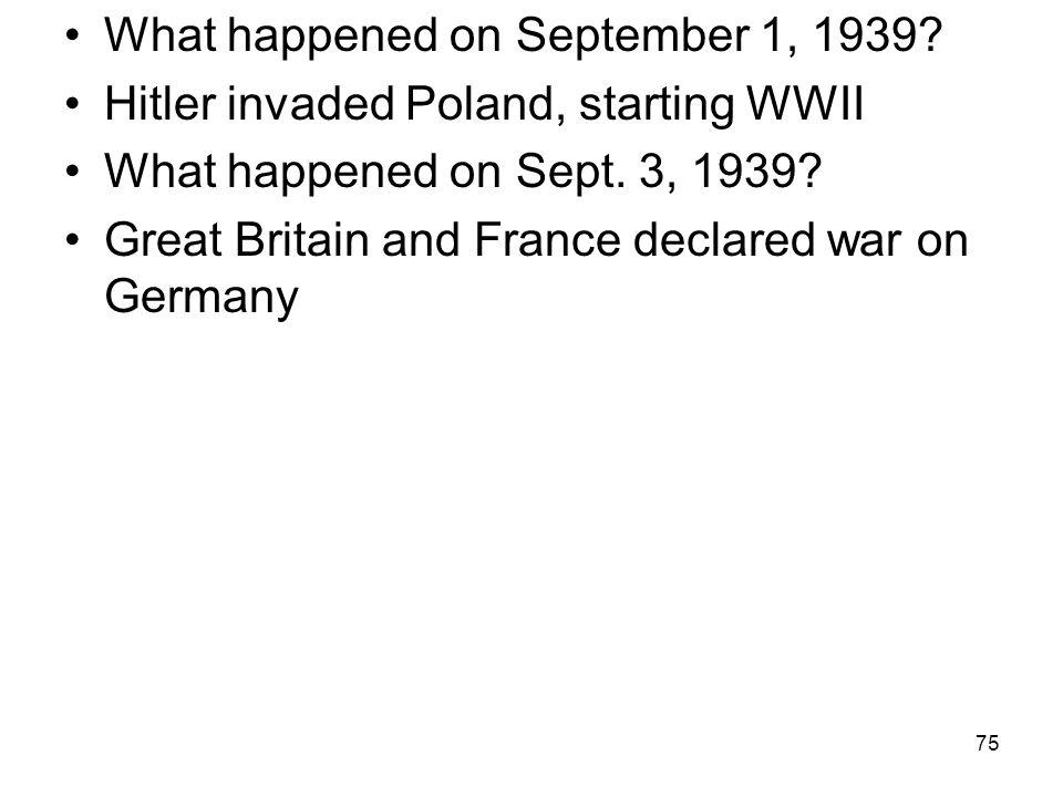 What happened on September 1, 1939