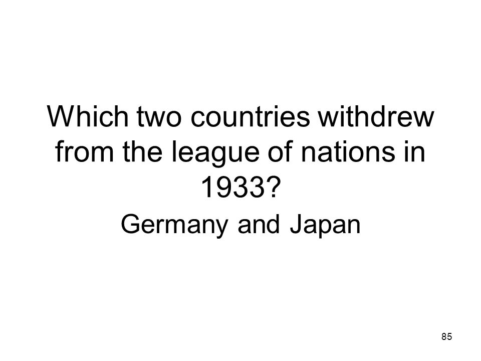 Which two countries withdrew from the league of nations in 1933