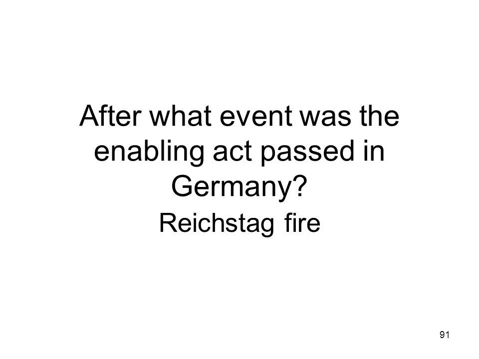 After what event was the enabling act passed in Germany